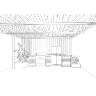 Pool house PV dessin
