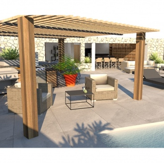 Pool house PV 3D